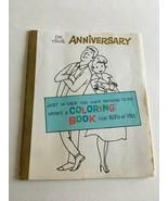 Rare Vintage 1960s Greeting Card Anniversary Humorous Mini Coloring Book - $10.64