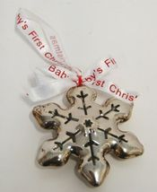 Roman 36772 Babys First Christmas Snowflake Ornament Color Silver image 4