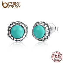 BAMOER 925 Sterling Silver Birthday Blooms Earrings, December, Stone Stu... - $24.80+