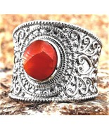 Fire Opal rough cut  Jalisco Mexico Stainless Steel Ring  2.5 carats Size 7 - $104.71