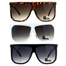 Womens Fashion Horn Rim Oversize Hipster Flat Top Sunglasses - £7.13 GBP
