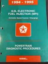1994 1995 Dodge Chrysler 8.0L Electronic Fuel Injection Tech Diagnostic Manual  - $14.84