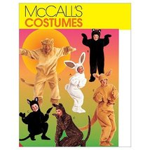 McCall's Patterns M6106 Adults'/Kids' Animal Costumes, Size L-XL - $14.21