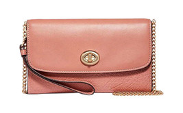 Coach Womens Melon Pink Soft Leather Crossbody Bag Purse F31620 8241-2 - $196.01