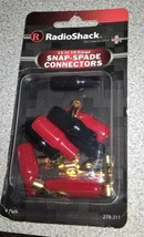 New Radioshack 12 To 10-Gauge Flat Pin Snap Spade Connectors 278-311 278... - $4.87