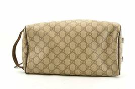 GUCCI GG PVC Leather Clutch Bag Brown Auth sa2157 image 8