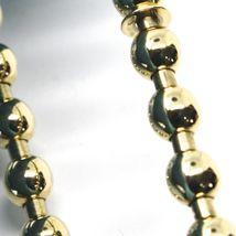 18K YELLOW GOLD BRACELET, SEMIRIGID, ELASTIC, BIG 5 MM SMOOTH BALLS SPHERES image 2