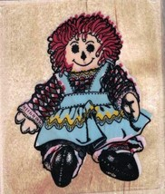 Franny Rag Doll Mounted Rubber Stamp New Stamp Affair J372 - $4.15