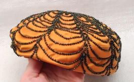 Mid Century Parkridge Exclusives Ornate Pillbox Gold Hat w/ black glass ... - $34.60