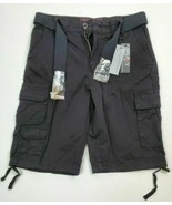 new GALAXY BY HARVIC  Belted Cargo shorts color Black size 30 nwt - $18.62