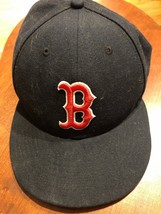 New Era 59Fifty Boston Red Sox Fitted Hat Cap Size 8 Low Crown - $18.04