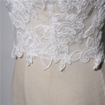 Wedding Lace Vest Tops Sleeveless Deep V Lace Tank Tops White Lace Bridal Tops image 4