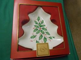 """NIB- LENOX """"Holiday""""  Christmas TREE CANDY DISH   ..............FREE POS... - $18.40"""