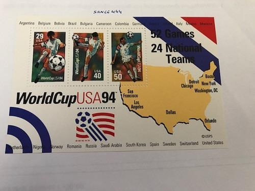 Primary image for United States World Cup s/s 1994 mnh         stamps