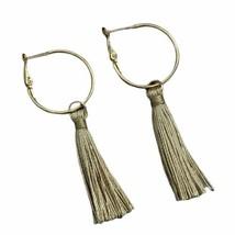 Gold Tassel Hoop Earrings Boho Festival Bohemian Fashion Fashion Jewelry - $14.99