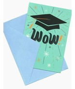 WOW ! Congratulations Graduation Hat Wishes Greeting Card  - $6.99
