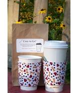 Cozy to Go Cup Wrap Bones Hearts Dots DBHD1 - $10.00