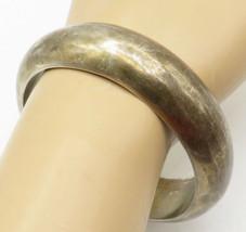 NAZAR 925 Silver - Vintage Minimalist Smooth Rustic Bangle Bracelet - B5016 - $154.56