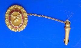 Vintage Moose Pin Governor Merit Award 10K Gold Elks Tie Lapel Torch se - $53.26