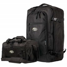 2pc Set Carry-On Luggage Black Upright And Tote - $37.39