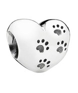 "Heart Bead w/Paw Prints & ""My Sweet Pet"" - $8.00"