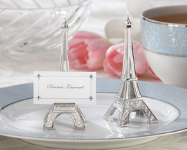 Eiffel Tower French Paris Silver Wedding Place Card Holder Table Decor 4... - $85.36+