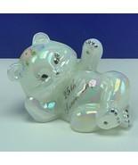 Fenton glass teddy bear figurine sculpture milk white signed anniversary... - $72.41