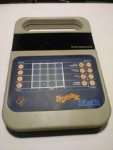 Vintage 1980's Speak and Math Texas Instruments Educational Toy missing ... - $30.00