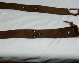 Unbranded Brown Nylon Latigo Tie Strap Six Feet Long One Three Quarter Inch Wide image 2