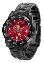 Arizona State Mens Watch Fantom Gunmetal Finish Red Dial - $67.50