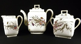Antique Tea Set Charles Field Haviland Limoges Hand Painted Floral & Gol... - $295.00