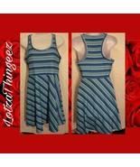 Tehama Dress S Racerback Sport Tennis Golf Striped Blue - $16.83