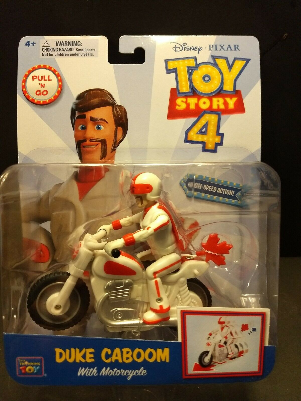 Primary image for New sealed Walt Disney Pixar Toy Story 4 Duke Caboom Motorcycle Daredevil figure