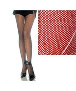 PLUS SIZE FISHNET PANTYHOSE RED - $2.50