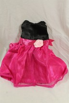 """18"""" doll dress sleveless party dress black and pink with rose - $6.79"""