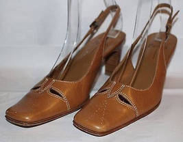 Size Strap 6 Pumps Chunky Tan Leather Vintage Dressy Ankle Linea 5M Paolo Heels qwUvFF
