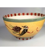 Lenox WINTER GREETINGS large Serving Bowl Catherine McClung Bird lover New - $173.30