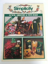 Simplicity Lunch Grocery Tote Bag Craft Sewing Book Vtg #3710 Connie Mat... - $11.00