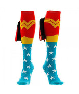 Wonder Woman Knee High Shiney Cape Socks Red - $16.98