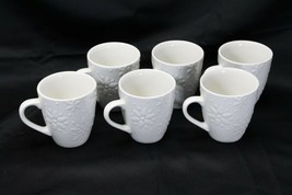 "Snowflakes by Thomson Mugs Large 4"" Lot of 6 - $39.19"