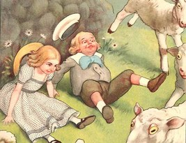 Mary's Lambs Run Amuck 1901 Mother Goose Illustration by Peter Newell Ar... - $32.99