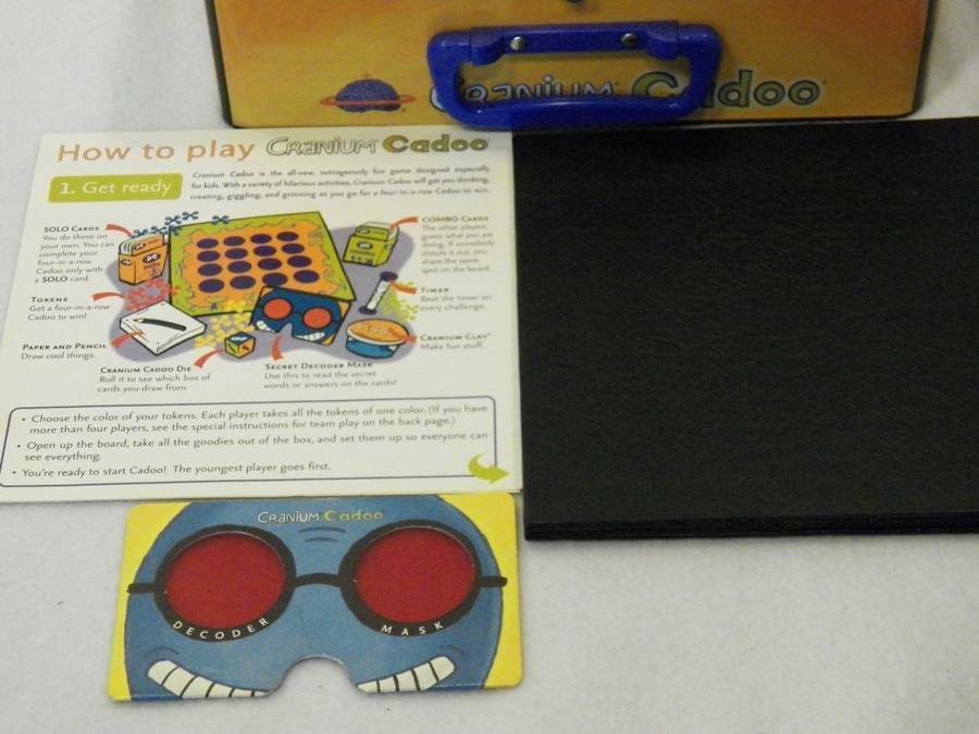 Cranium For Kids Tin Lunchbox Cadoo Board Game Complete image 4