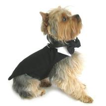 Black Dog Harness Tuxedo w/Tails, Bow Tie, and Cotton Collar - $49.99