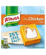 Knorr Chicken Reduced Salt Stock Cubes 6 x 9g - $4.43