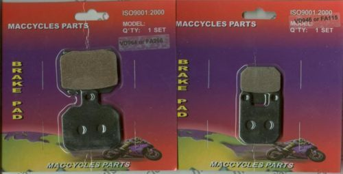 Derbi Disc Brake Pads GPR50 GPR80 2004-2009 Front & Rear (2 sets)