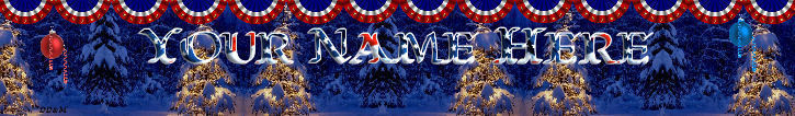Primary image for Custom Created Christmas Banner July Christmas trees snow Independence day  138a