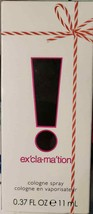 Exclamation By Coty For Women. Cologne Spray  0.37FL OZ 11 ML (LOC TUB E-4) - $12.19
