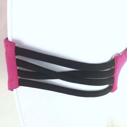 L Space Strap Side Full Cut Bikini Bottoms Pink Womens M Medium