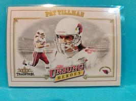 2001 Fleer Tradition Football Pat Tillman Unsung Heroes Rookie Card #325 - $38.50