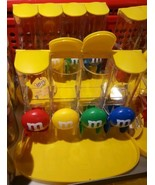 M&M's chocolate CANDY DISPENSER 4 slots Red yellow Green Blue Great Swee... - $41.71